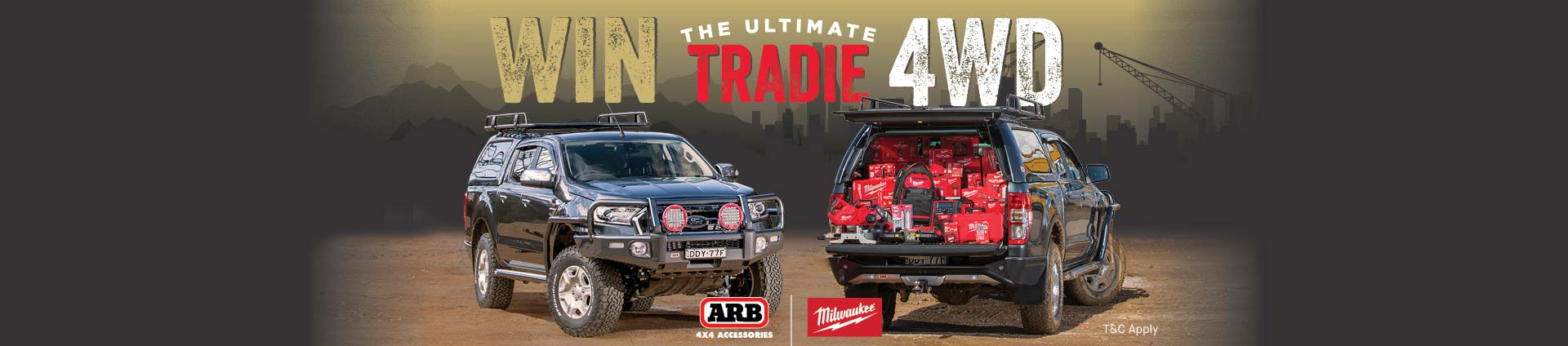 Win the Ultimate Tradie 4WD with Milwaukee Tools - ARB Maroochydore